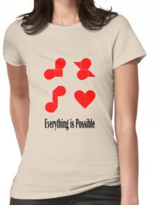 everything is possible Womens Fitted T-Shirt