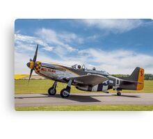 """TF-51D Mustang N251RJ 44-84847 CY-D """"Miss Velma"""" Canvas Print"""