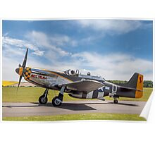 """TF-51D Mustang N251RJ 44-84847 CY-D """"Miss Velma"""" Poster"""