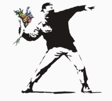 Banksy - Flower Thrower by edskimo8