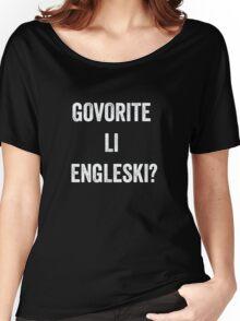 Do you speak English? (Croatian) White Women's Relaxed Fit T-Shirt