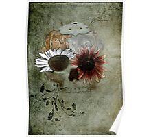 Flower Skull V4 Poster