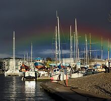 Dark skies over the marina by missmoneypenny