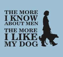 The more i know about men, the more i like my dog by nektarinchen
