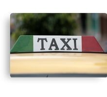 Taxi Sign Canvas Print