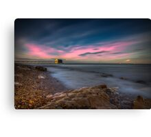 Twilight At The Lifeboat Canvas Print