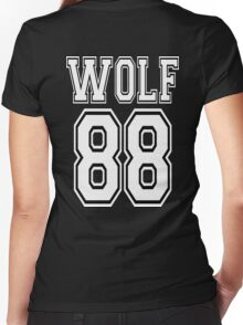 ♥♫WOLF 88-Splendiferous K-Pop EXO Clothing & Cases & Stickers & Bags & Home Decor & Stationary♪♥ Women's Fitted V-Neck T-Shirt