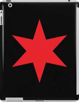Chicago ✶ Star iPad Case (Black) by Chicago Tee