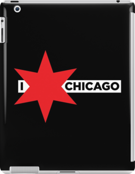 I ✶ Chicago iPad Case (Black) by Chicago Tee