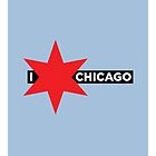 I ✶ Chicago iPad Case (Light Blue) by Chicago Tee