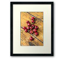 Fresh Cherry Framed Print