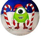 Mini Mike Wazowski Elf by LittleMizMagic