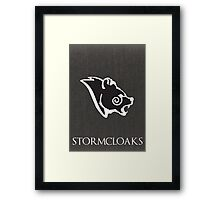 Stormcloak poster Framed Print