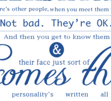Doctor Who Quote Sticker