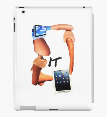 'IT' - (Computer- Geek- Surreal- collage- with TV and Tablet)- Cultural Cringe  iPad Case/Skin