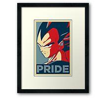 Vegeta's pride! Framed Print