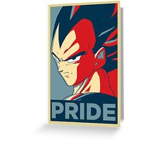 Vegeta's pride! Greeting Card