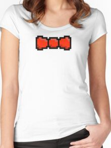 Pixel Bow tie Women's Fitted Scoop T-Shirt