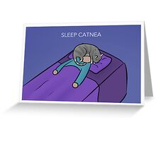 Sleep Catnea Greeting Card