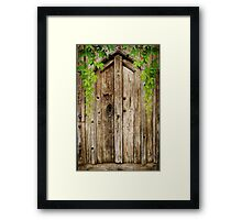 Behind A Cosed Door Framed Print