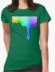 Liquid colored Womens Fitted T-Shirt