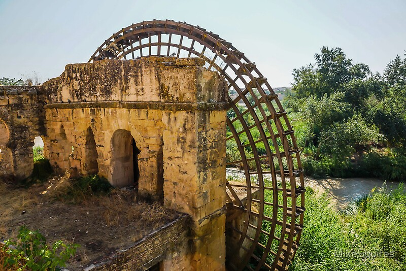 Quot Ancient Water Mill Cordoba Quot By Mikesquires Redbubble
