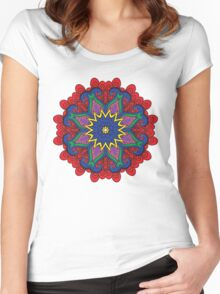 Abstract flower vector figure Women's Fitted Scoop T-Shirt