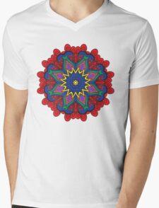 Abstract flower vector figure Mens V-Neck T-Shirt
