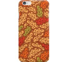 Autumn oak leaves iPhone Case/Skin