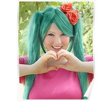 Hatsune Miku - I Love You! Poster