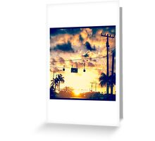 Red Light Sunset Greeting Card