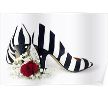 Striped Shoes Poster