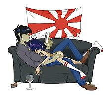 Murdoc and Noodle from Gorillaz by EsthersDesigns