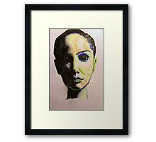 Woman in Shadow Framed Print