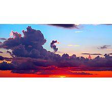 Vibrant Cloudscape  Photographic Print