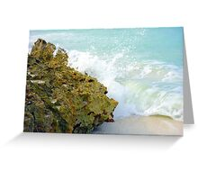 Wave and Rock Greeting Card