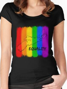 NS EQUALITY Women's Fitted Scoop T-Shirt