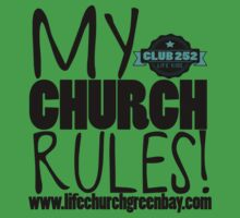 My Church Rules - Kids Tee One Piece - Short Sleeve