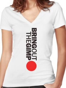 Pulp Fiction - Bring Out The Gimp Women's Fitted V-Neck T-Shirt