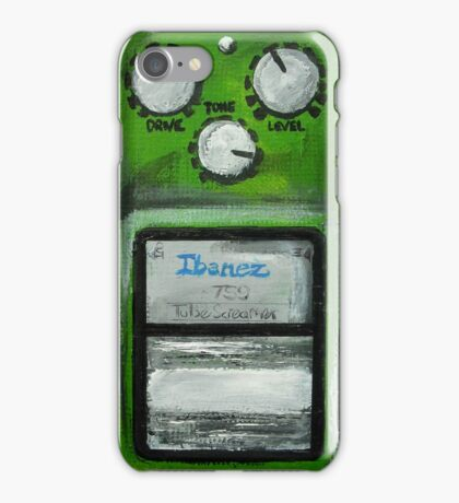 Ibanez Tube Screamer Acrylics On Canvas Board iPhone Case/Skin