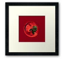 Petunia Sphere Framed Print