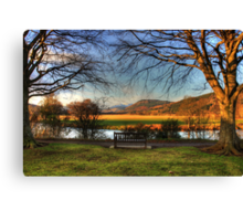 Sit here and enjoy the view Canvas Print