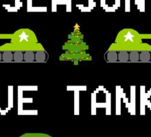 This Holiday Season, Give Tanks! Sticker! Sticker