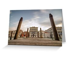 Venice Docks with Canals of Venice Italy Greeting Card