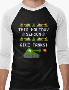This Holiday Season, Give Tanks! Men's Baseball ¾ T-Shirt