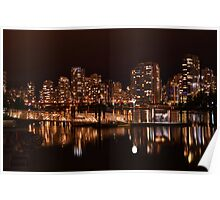 Vancouver at night Poster
