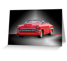1954 Chevrolet 'Cherry Bomb' Custom Convertible Greeting Card