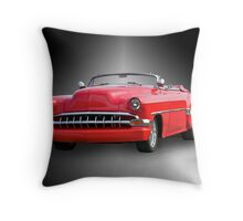 1954 Chevrolet 'Cherry Bomb' Custom Convertible Throw Pillow