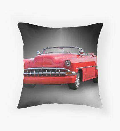 1954 Chevrolet 'Cherry Bomb' Custom Convertible Throw Pillow