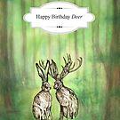 Happy Birthday Deer by Carrie Jackson